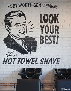 Barber Shop Denton Tx : Worth Barber Shop features wall lettering from Starr Studios in Denton ...