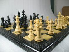 Triple Weight Club Chess Set Staunton 4Q Ebony Wood. http://www.chessbazaar.com/chess-pieces/wooden-chess-pieces.html/