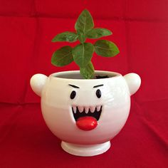 This terribly cute Boo planter | Community Post: 20 Nintendo-Inspired Décor Items Guaranteed To 1-Up Your Life