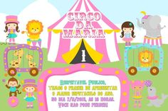 Convite digital personalizado Circo 004