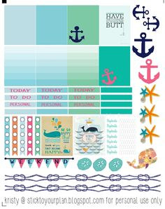Free Nautical Printable Planner Stickers | Stick To Your Plan