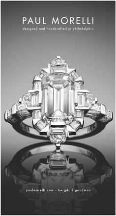 Paul Morelli. This ring! So different and sooo gorgeous. I'm sick of seeing cushion or round cut, everyone has it!