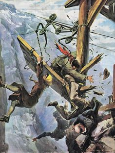 Here are some amazing pieces from an Italian illustrator named Walter Molino. These illustrations (1957-59) come from an Italian newspaper c...