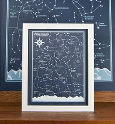 northern hemisphere star chart print by brainstorm 8x10