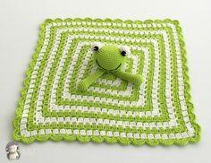Manta de Apego Ranita a Crochet - Patrón Gratis en Español aquí: http://www.artedetei.com/2015/12/manta-de-apego-ranita-crochet-patron.html