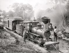 Florida Railroad B&W, Jupiter and Lakeworth R.R. Railway, -Train, Locomotive, Steam Train