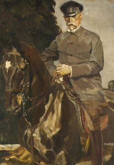 LudvíkVacátko(Czech, 1873-1956), Portrait of President T. G. Masaryk. Oil on canvas, 96 x 72cm.