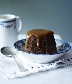 Sticky toffee pudding made easy - no steaming, no caramel to make, just tasty springy sponge and a treacle toffee sauce