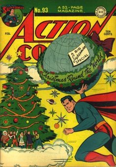 Vintage Action Comic: Christmas with Superman