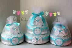 Tiffany and Co. Inspired Diaper cake, Baby and Co, Tiffany and Co baby shower , Tiffany Blue Diaper cake Baby shower Decorations on Etsy, $49.99