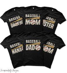 Baseball Mom Bundle - Team Baseball Shirts / Family Tshirts / Baseball Nana Shirt / Baseball Brother Shirt / Custom Baseball Mom Shirt / Tee by Scrapendipitees on Etsy