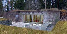 Rå betong och glas blir ledmotiven när gotländska bunkrar byggs om till bostäder. Illustration: Skälsö Arkitekter Foto: