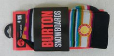 New Burton Party Sock Snowboard Socks Womens Small Boarderline