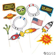 Space Photo Stick Props