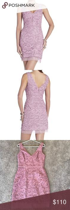 BCBG Lavender V-neck Dress BCBG Marissa V-neck Dress in a beautiful dark lavender color. Perfect for a wedding or an evening out! Worn one time only! Love this dress ❤️ BCBGMaxAzria Dresses Midi