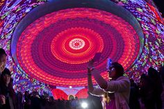 Illuminations during the Zigong International Lantern Festival in conjunction with the upcoming Lunar New Year celebrations in Zigong in southwest China's Sichuan province, on February 3, 2013.