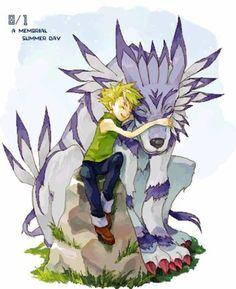 """Yamato """"Matt"""" Ishida and Garurumon #DigimonAdventure"""