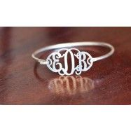 Filigree Monogram Bracelet --great for new bride with new initials, for me, bridesmaid gift, also necklaces on site, see womens jewelery