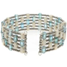 Kavala Cuff - memory wire and 2 hole beads