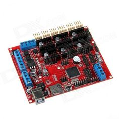 SoaringE E00257 RepRap Megatronics V2.0 Drive / Control Board for 3D Printer - Red. Description: Megatronics is based on many famous open-source products including: Arduino Mega 2560, RAMPS, SD Ramps. Therefore this product is an already proven design. It combines all major features of these board into a single board solution for more reliable 3D-printing. Megatronics has a powerful Atmega2560 processor with 256 kB memory, running at 16MHz. The board can be connected to a PC using a normal…