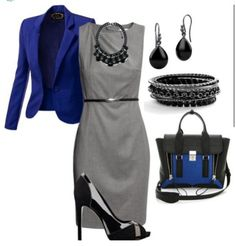 Love grey and blue, classic.