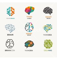 Collection of brain creation idea icons and vector by ma_rish on VectorStock®