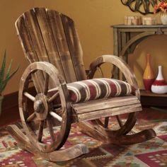 Wagon Wheel Rocker & Sante Fe Spice Cushion