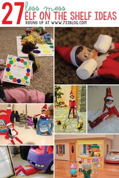 27 Fun & Easy Elf on the Shelf Ideas - seven thirty three