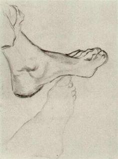 Vincent van Gogh: The Drawings (Foot, Nuenen: January-February, Vincent Van Gogh, Van Gogh Drawings, Van Gogh Paintings, Life Drawing, Figure Drawing, Painting & Drawing, Van Gogh Arte, Kunst Online, Art Van