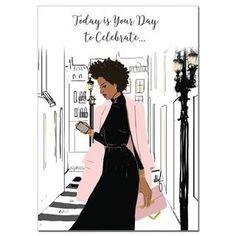 Happy Birthday Black, Happy Birthday Sister, Happy Birthday Greeting Card, Today Is My Birthday, African American Birthday Cards, Black Women Art, African American Women, Birthday Quotes, Birthday Wishes