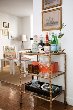 lamps on bar carts - Google Search