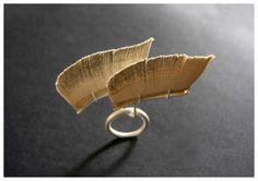 Shiri Avda -Ring - Book's paper , silver-