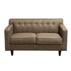 Diamond Sofa Mid-Century Loveseat In Pepper Tweed