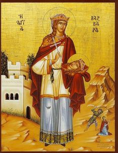 Orthodox icon of Saint Barbara, the Great Martyr Commemorated December Protector Saint of : Pregnant Woman Saint Barbara, Roman Church, Byzantine Icons, Orthodox Christianity, Modern History, Orthodox Icons, Renaissance Art, Religious Art, Middle Ages