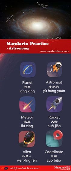 For those astronomy enthusiasts For more info please contact: bodi.li@mandarinhouse.cn The best Mandarin School in China