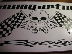 skull-piston-checkered-flag-racing-trailer-decals-stickers-wraps-graphics