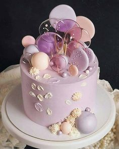 Pink Birthday Cakes, Birthday Cake With Flowers, Pretty Cakes, Beautiful Cakes, Cupcakes, Cupcake Cakes, Gateau Baby Shower, Baby Girl Cakes, Painted Cakes