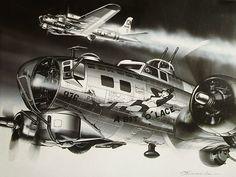 Boeing B-17G Flying Fortress 'A Bit O'Lace' by Masao Satake