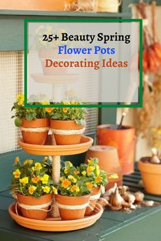 25+ Beauty Spring Flower Pots Decorating Ideas #potsdecoratingideas Garden Party Decorations, Diy Garden Decor, Garden Art, Herbs Garden, Indoor Garden, Diy Hanging Planter, Diy Planters, Planter Pots, Planter Ideas
