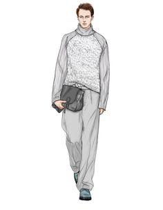 Man Illustration, Fashion Illustration Sketches, Fashion Sketchbook, Fashion Sketches, Dress Design Sketches, Fashion Design Drawings, Style Masculin, Line Artwork, Fashion Silhouette