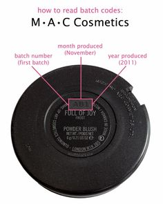 How to read the Batch code number on MAC Cosmetics lipsticks, blushes, eyeshadows