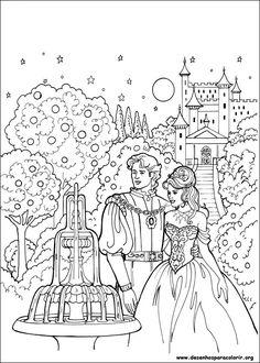 """iColor """"Princesses I"""" ~ Princesa Leonora at the fountain"""