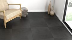 Carrelage Ciment Anthracite 60*60