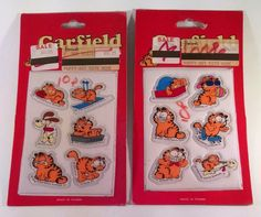 2 Packs Of Garfield Puffy Stickers 1978 NOS 12 Stickers Kats Meow Free Shipping…