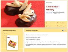 čokoládové Crescent Rolls, Christmas Cookies, Xmas Cookies, Christmas Crack, Croissants, Christmas Biscuits, Christmas Desserts, Horn, Horns