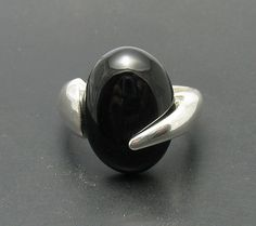 R000417 STERLING SILVER Ring Solid 925 Black Onyx by EmpressSilver, $16.80