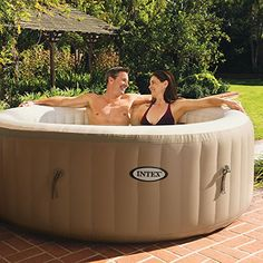 Get cozy, relax, and indulge yourself in the Intex PureSpa Bubble Therapy Inflatable Spa. With the touch of a button, adjust the temperature to best suit your comfort level. Pamper yourself and relax in this Intex PureSpa Bubble Therapy Inflatable Spa. Piscina Intex, Piscina Spa, Whirlpool Bathtub, Whirlpool Galaxy, Spa Intex 4 Places, Pure Spa Intex, Portable Bathtub, Shopping, Gardens
