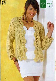 Crochetemoda: Crochet - Casaquinho Amarelo