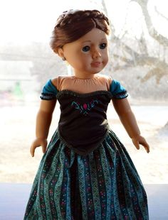 "Anna's Coronation Dress in Disney's Frozen Clothes for 18"" American Girl -Lumi"