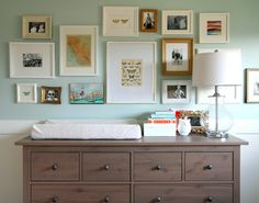gallery wall over changing table